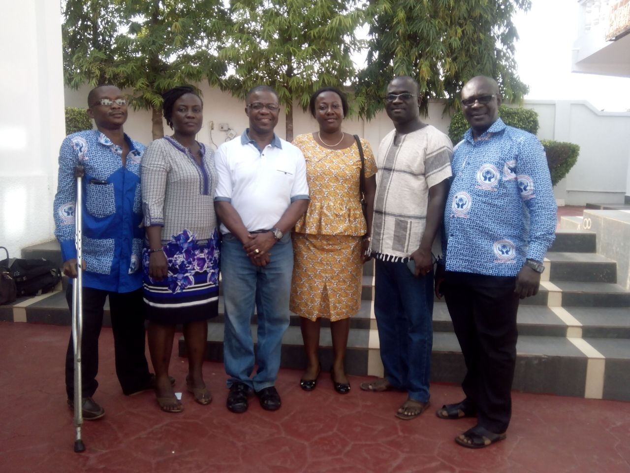 From left to Right -Mr Michael Asabere, Miss Mary Theodora Kukah, Dr Charles Anane, Mrs Christiana Boatemaa Atakora- (Manageress), Dr Anthony Enimil, Dr Frank Ankobea)