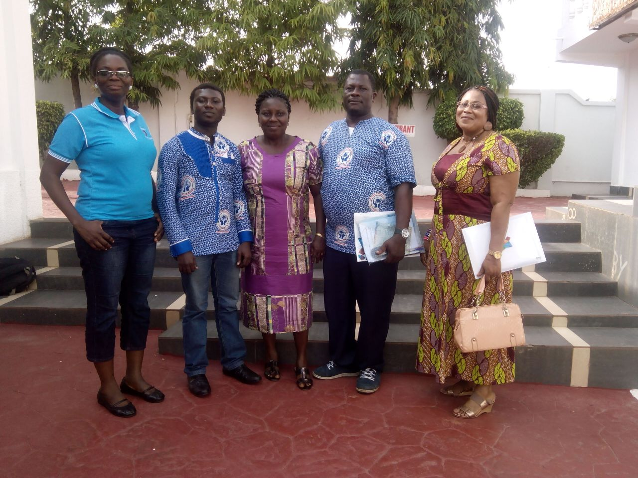 From left to right – Mrs Lydia Adu Opare, Mr David Ofosu Ntiamoah, Mrs Juliana Boakye, Mr Godwill Dzikunoo, Mrs Mariam Akpaloo