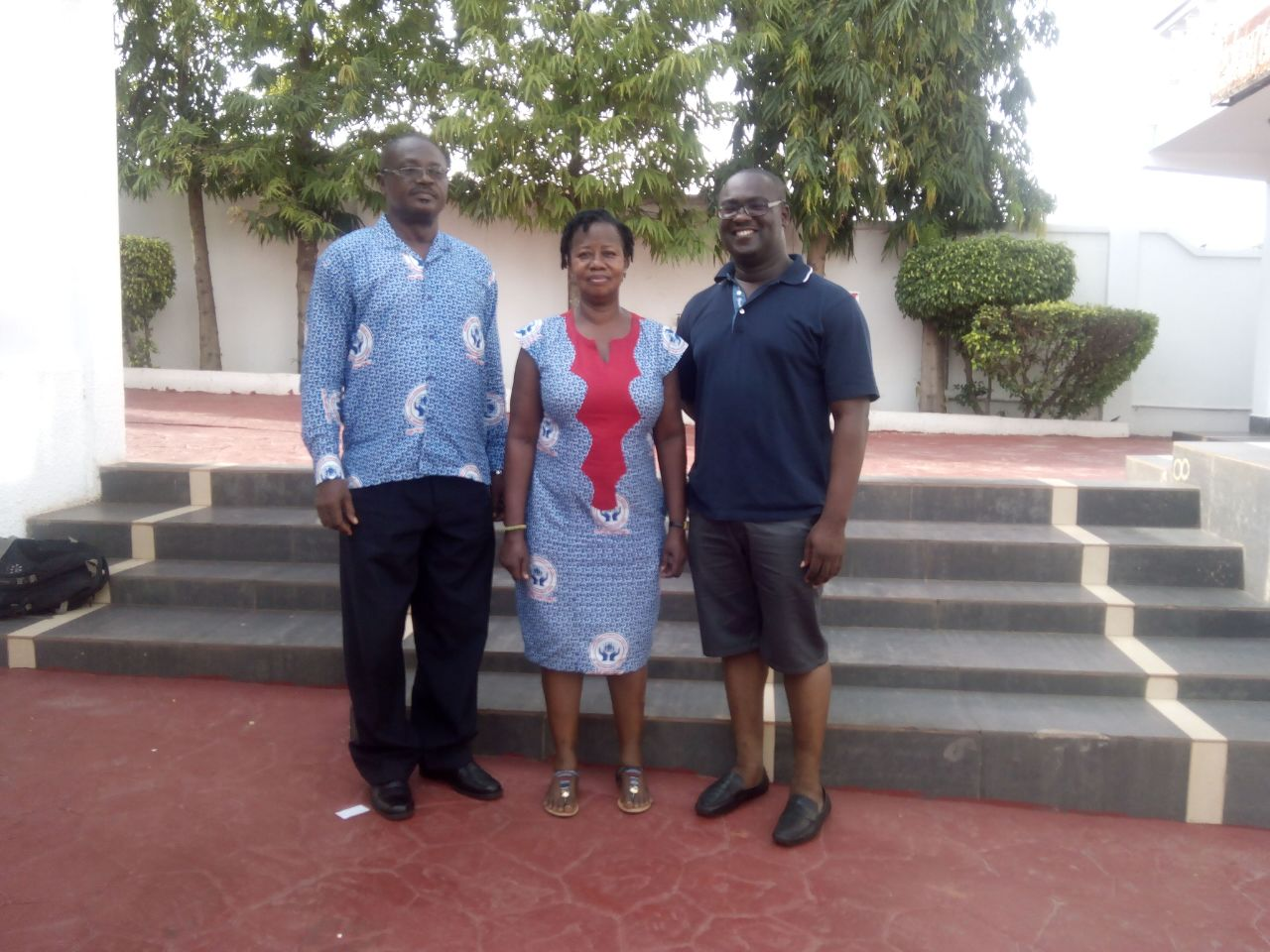 From left to right – Mr George Sencherey, Mrs Beatrice Antwi, Mr Kofi Boamah