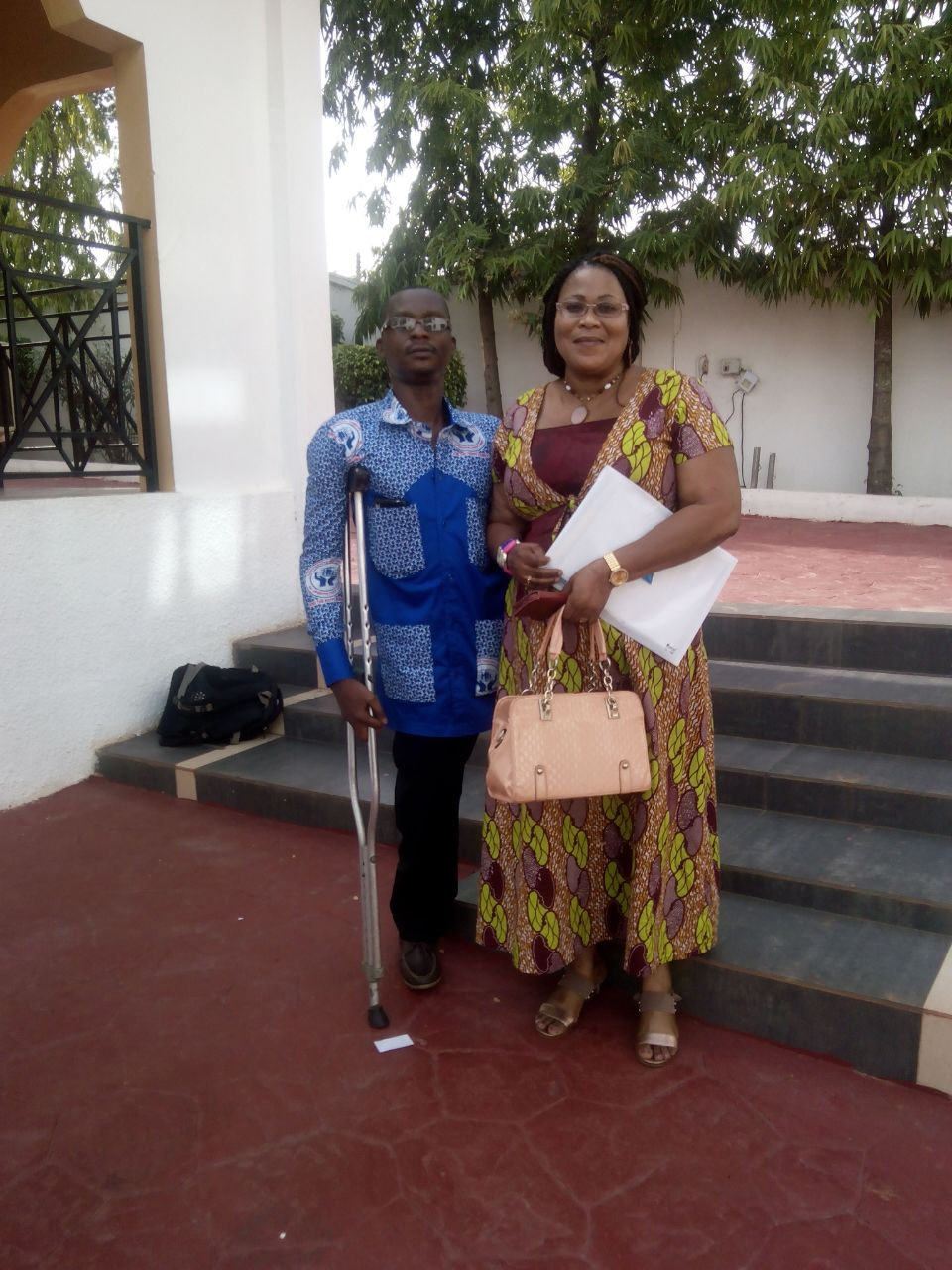 Mr Michael Asabere and Mrs Mariam Akpaloo