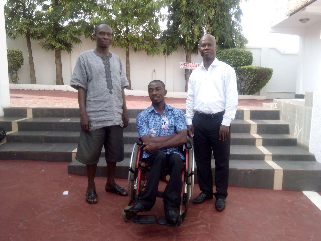 From left to right- Mr Richard Bremfi, Mr John Owusu, Mr Armstrong Adade Yamoah