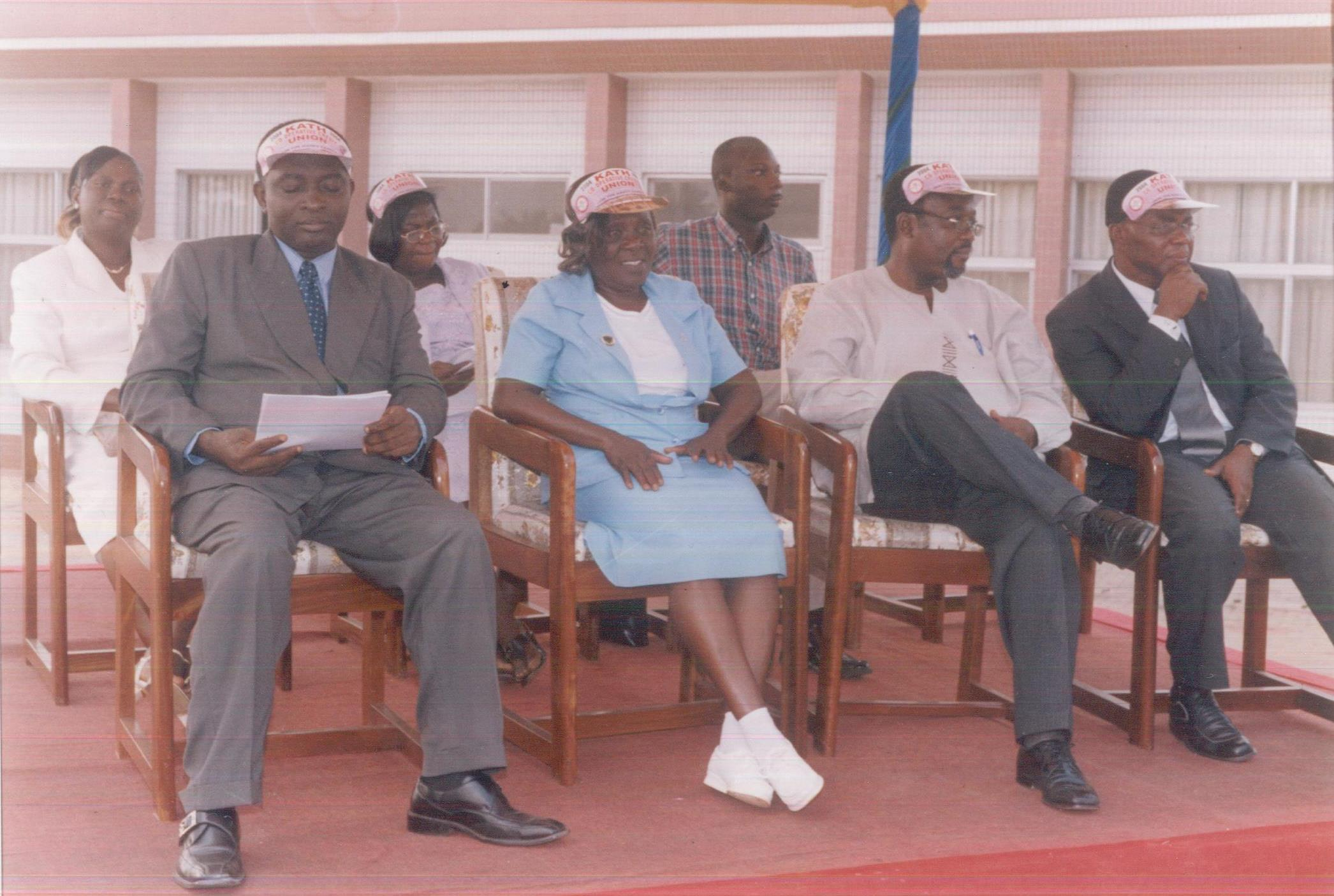 From left to right - Mr. Isaiah Offe-Gyimah (then Director of Administration, KATH),Mrs. Margaret Atiemo,(Retired Director of Nursing, KATH), Dr. Anthony Nsiah Asare (then CEO of KATH), Dr. Charles Anane (Medicine Directorate, KATH)