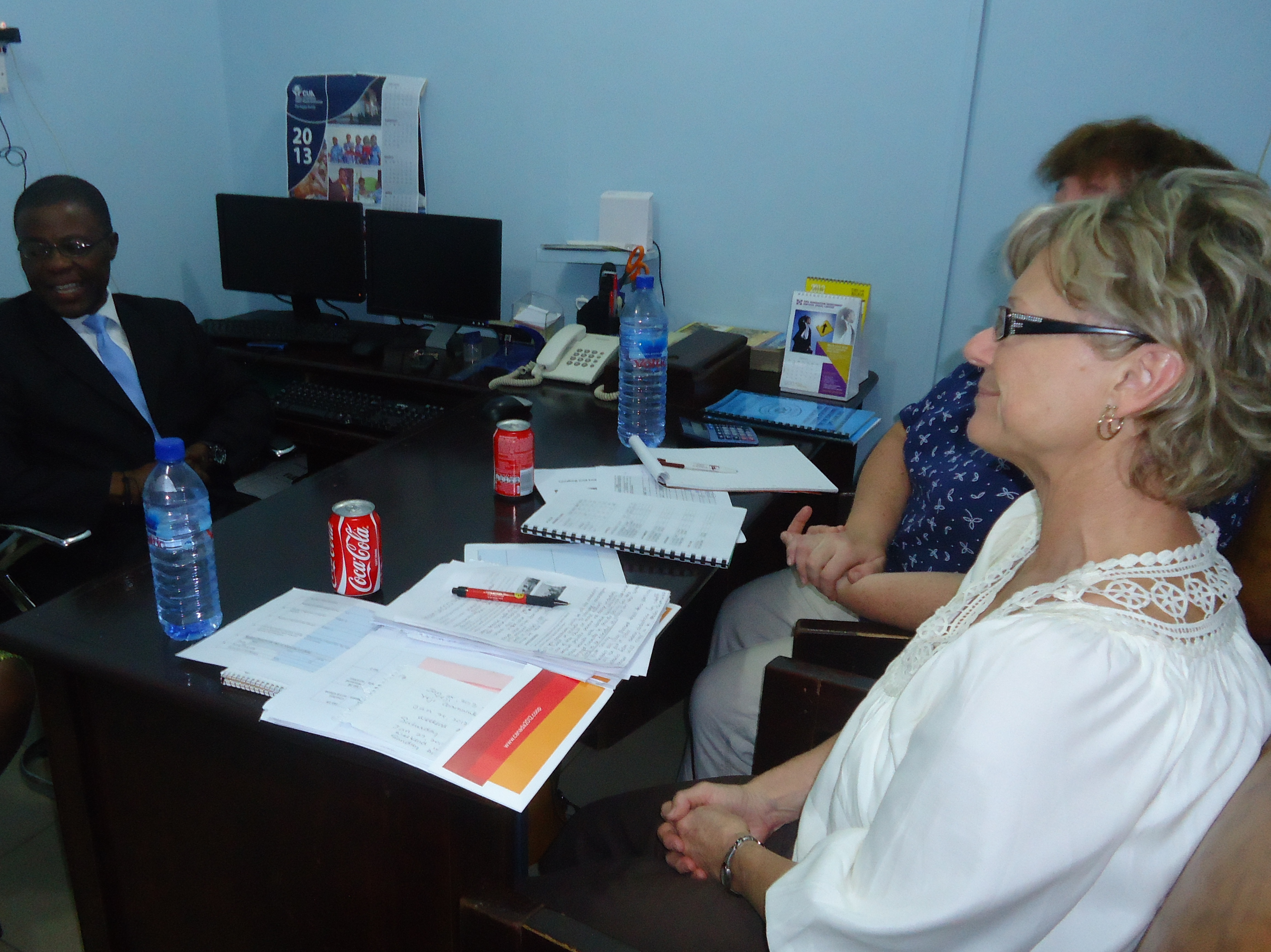 Dr Charles Anane (Board Chairman) with Canadians Credit Union Officers