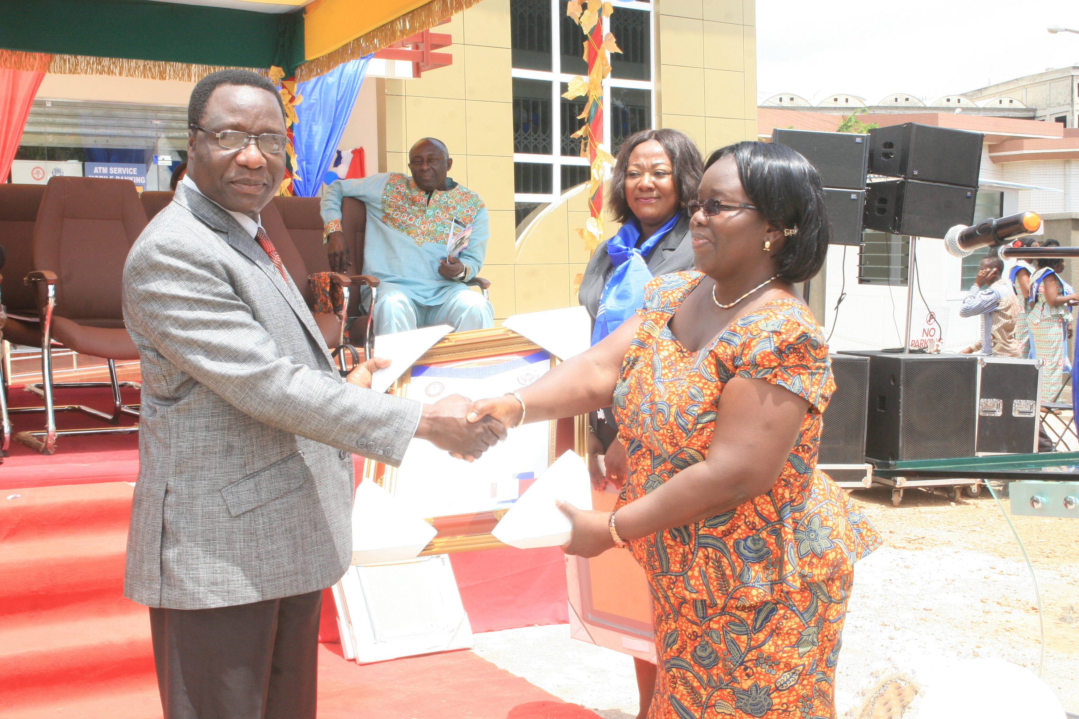 PRESENTATION TO FORMER MANAGEMENT OF KATH—MADAM LYDIA KISSEIH (CHIEF ADMINISTRATOR, CUA)