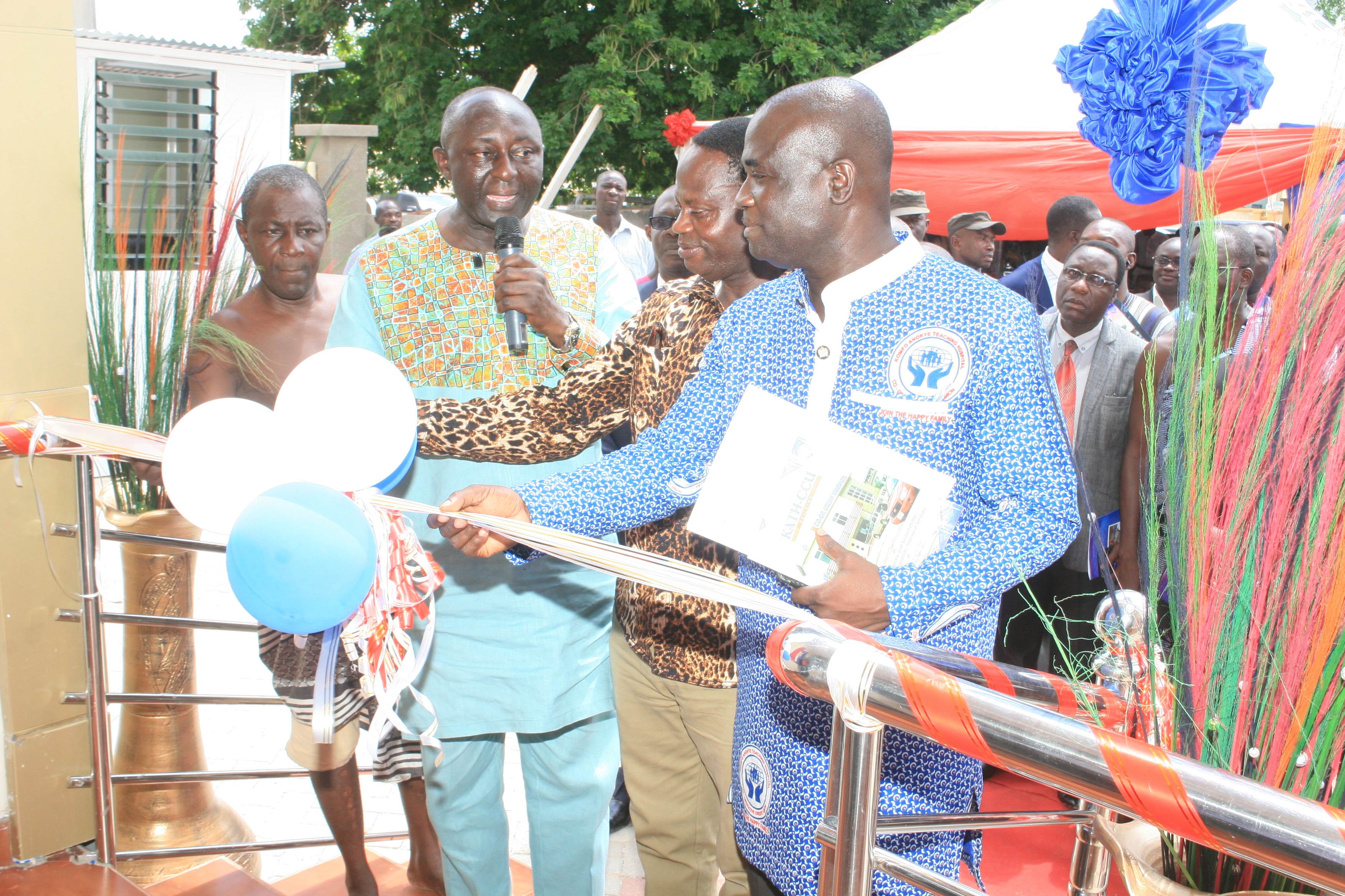 CUTTING OF TAPE BY DR ANTHONY K ENIMIL